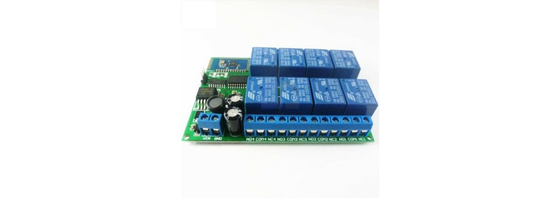 12V BlueTooth Relay 1-2-4-8 Channet