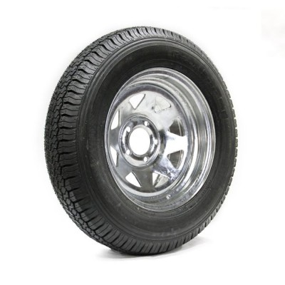 TIRE 225/75D15 8 PLY 2540 LBS AND GALVANIZED RIM 5 HOLES VAIL SPORT