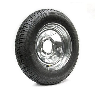 TIRE 225/75D15 8 PLY 2540 LBS AND GALVANIZED RIM 6 HOLES 2540 LBS VAIL SPORT