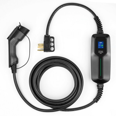 NEMA Charger 40A 240V 25ft Charging Cable, Portable Plug-in EVSE 14-50