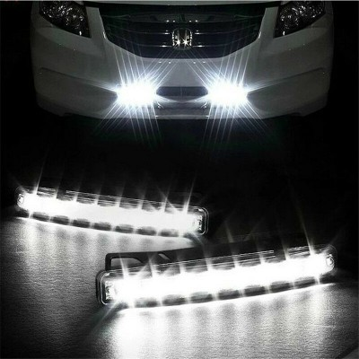 Pair-Car Light 8 LED DRL Fog Driving Daylight Daytime Running LED Light