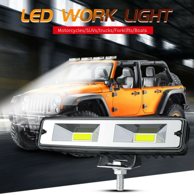 12V  6'' Car Driving Fog Lamp 2 LED spotlight Bar Off Road Work Light UTE SUV ATV