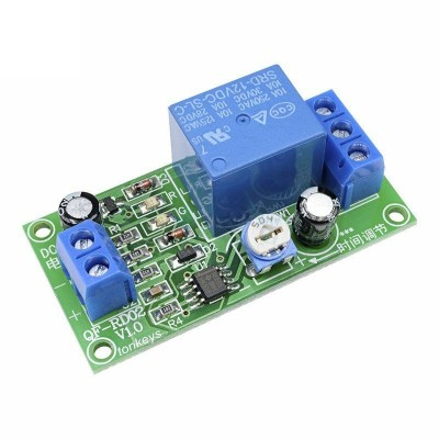 DC 12V  Delay/Timer Relay Switch Adjustable  0-60 Secondes