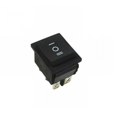 Black Rocker Switch ON/OFF/ON 3 Position 6Pins AC 250V16A/125V 20A